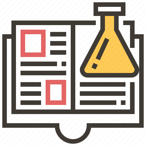 chemistry, education, lab, laboratory, science, science book icon