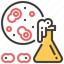 chemistry, education, flask, lab, laboratory, petri dish, science icon