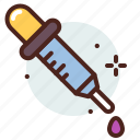 science, pipette, medical, biology, chemistry icon