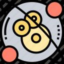 physics, science, proton, electron, atom icon