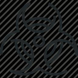 bio, biohazard, biological, hazard, hazardous, sign, virus icon