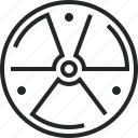 danger, hazard, nuclear, radiation, radioactive, sign, warning icon