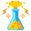 chemical, explosion, flask, reaction icon