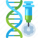 dna, genetic, modification, science icon