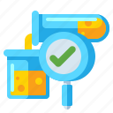 chemistry, flask, tests icon