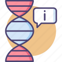 bioinformatic, bioinformatics, biological data, genetic data, genetic information icon