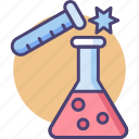 chemical, chemical reaction, chemistry, chemistry experiment, experiment icon