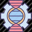 bioengineering, dna, genetic, genetic engineering, science, scientific icon