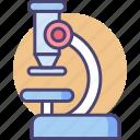 lab equipment, microscope, science, scientific icon