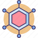 cell structure, molecular, molecular structure, structure icon