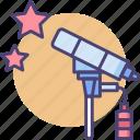 observation, observatory, stargaze, stargazinig, telescope icon