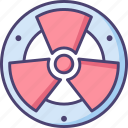 dangerous, hazard, hazardous, radiation, radioactive, warning icon