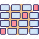 alignment, patterns, sequence, sequence alignment icon