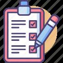 checklist, note, to do icon