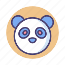 panda, protected animal, rare animal icon