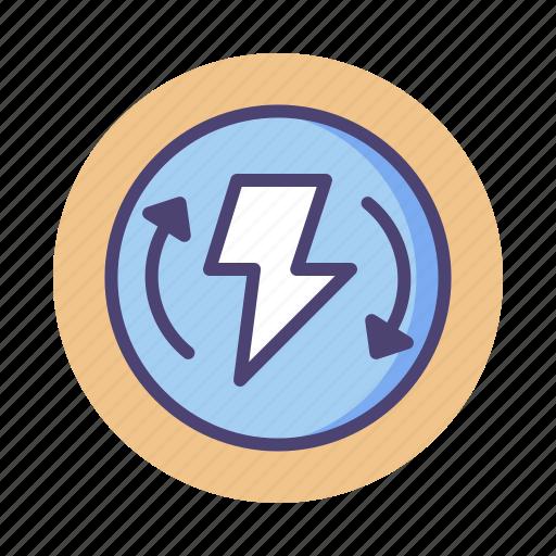 electric, energy, renewable, renewable energy icon