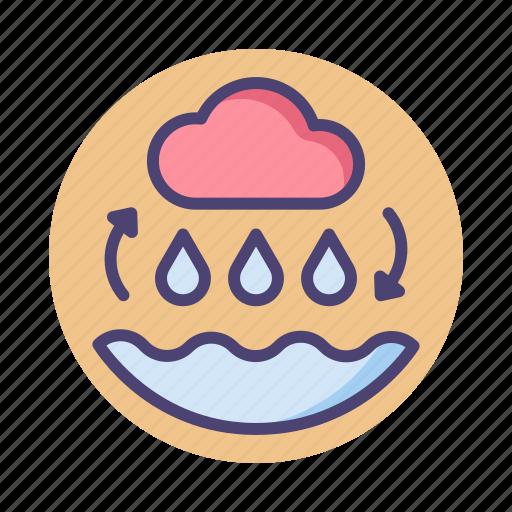 environment, rain cycle, water cycle icon