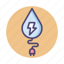 energy, hydro power, hydroelectric, water, water energy icon