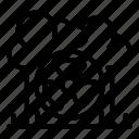 thin, yul889, cloud, bio, vector, nuclear icon