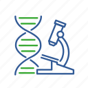 bio, bioinformatics, data, dna, gene, informatics, microscope icon