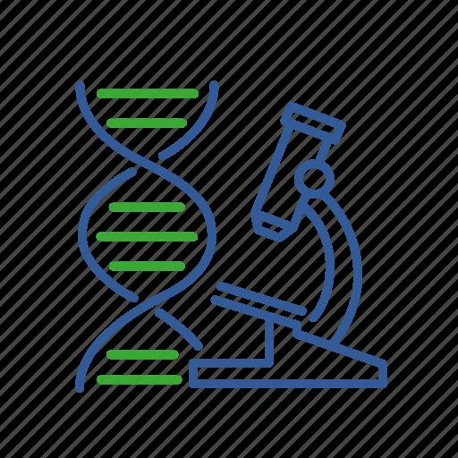 bio, bioinformatics, data, dna, gene, informatics, microscope icon