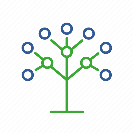 bio, bioinformatics, communication, data, dna, phylogenetics icon