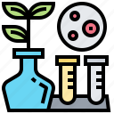 biological, cell, experiment, plant, research icon