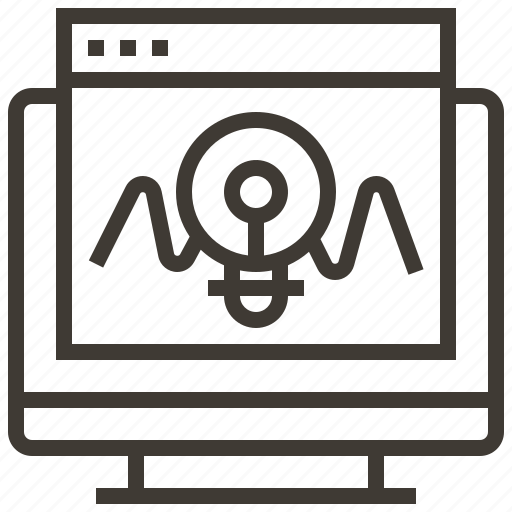 biology, chemistry, computer, laboratory, monitor, research, science icon