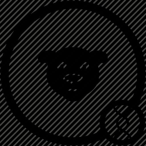 animal, avatar, bear, face, skin icon