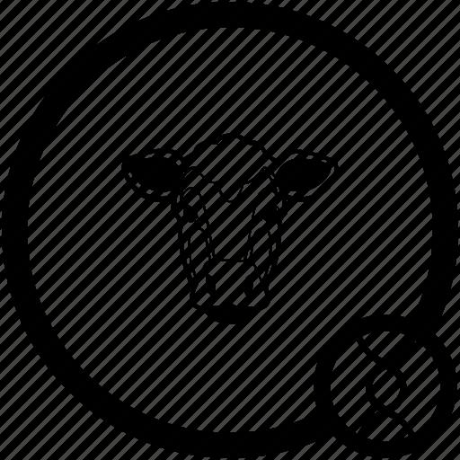 cow, face icon