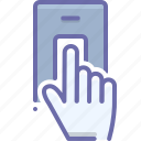 attendance, biometric, finger scan, identification, scan, security, verification icon