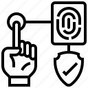 fingerprint, identity, scanning, security, system