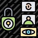 biometric, data, locked, privacy, verification