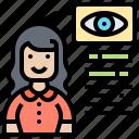 eye, information, personal, profile, scan