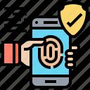 fingerprint, scan, smartphone, unlocked, verification