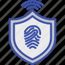 biometric access, biometry, online authentication, online biometric identification, online verification icon