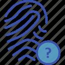 authentication error, biometric error, biometric identification error, biometry error, not found icon