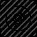 auto focus, camera focus, focus scanning, identification, locating icon