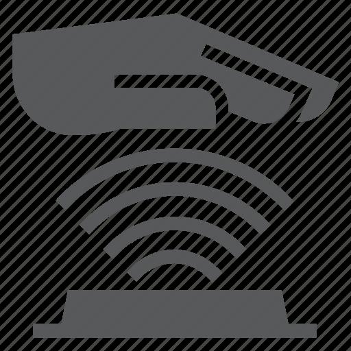 biometrics, lock, palm, scanning, security, system, technology icon