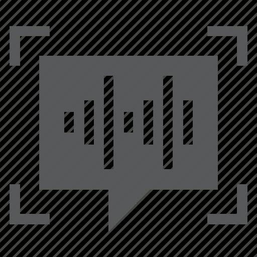 biometrics, identification, identity, microphone, recognition, record, voice icon