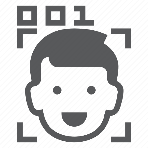 biometrics, emoji, face, human, identity, programmer, recognition icon