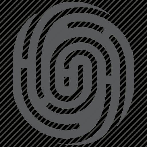 authentication, biometrics, fingerprint, identity, thumbprint, verification icon