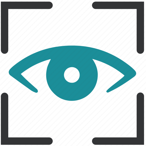 biometric, detect, eye, iris, recognition, scan icon