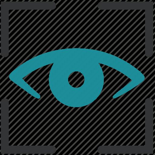 Biometric, detect, eye, iris, recognition, scan icon ...