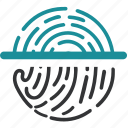 biometric, data, pringerprint, recognition, scan icon