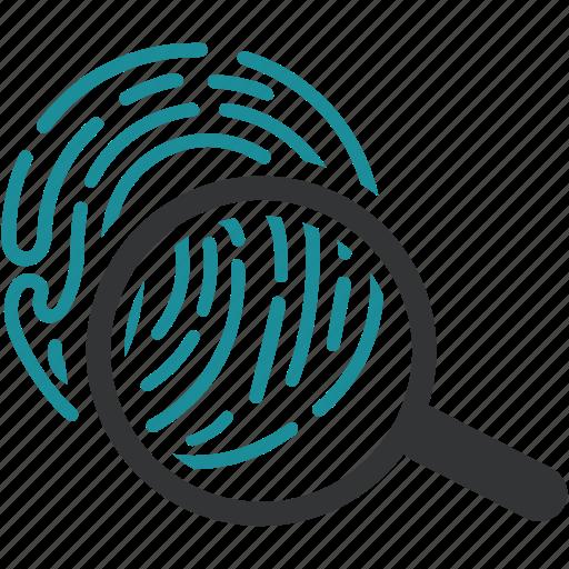 biometric, biometry, data, fingerprint, identification, scan icon
