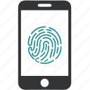 biometric, fingerprint, scan, mobile