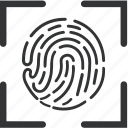 biometric, fingerprint, recognition, scan icon