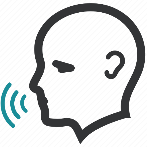 biometric, recognition, speak, voice icon