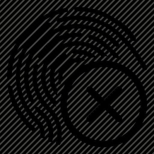 access, biometry, cancel, dactyl, data, finger icon